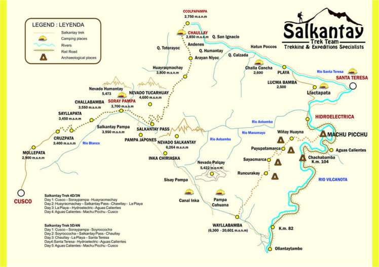 salkantay-trek-map